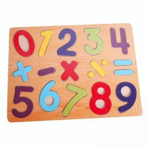 Đồ chơi gỗ bảng số và dấu d24a