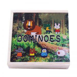 Đồ chơi gỗ dominoes thú rừng