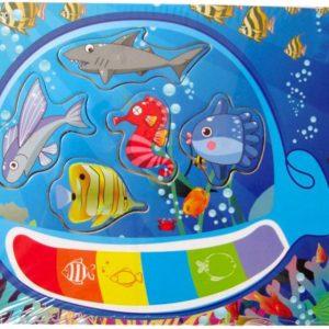 Đồ chơi gỗ Tranh ghép hình cá voi CA225 - Etic
